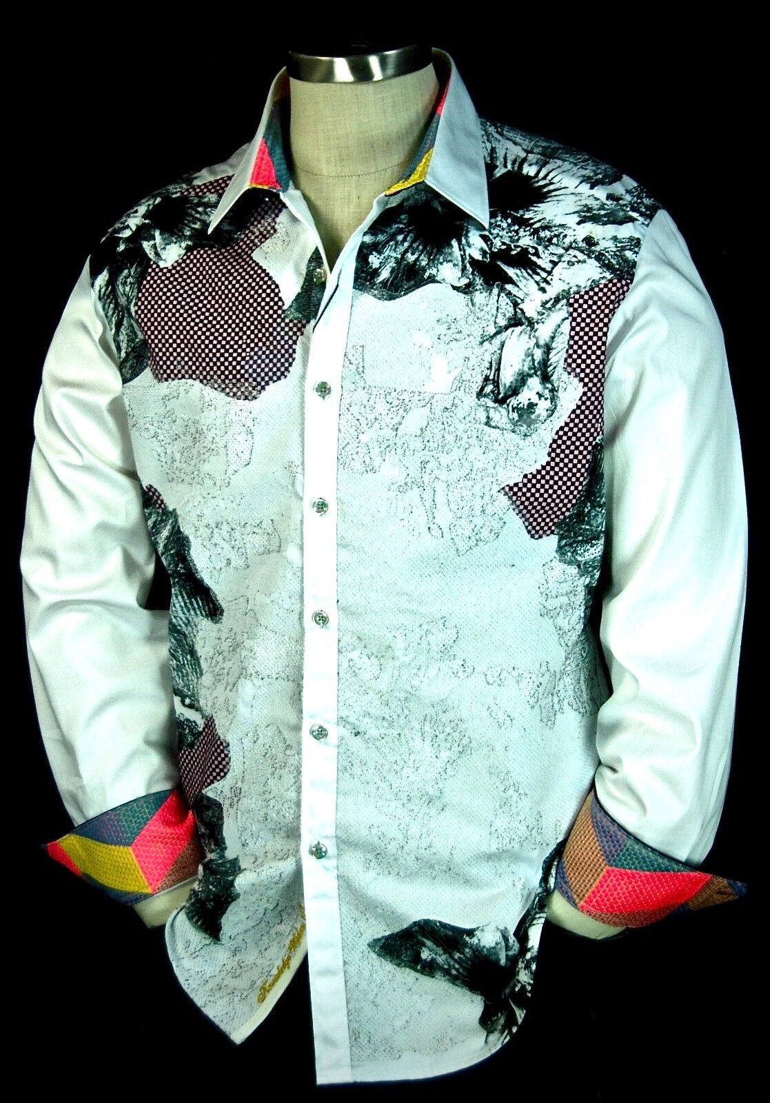 Robert Graham  The Corporal  NWT  White Floral Limited Edition Medium