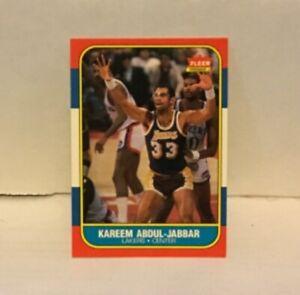 1986-87-Fleer-Basketball-Kareem-Abdul-Jabbar-1-Los-Angeles-Lakers-HOF-NMT-MNT