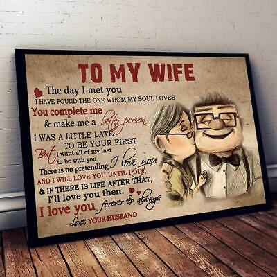 Wife To My Husband Everytime I Say I Love You Portrait Paper Poster No Frame