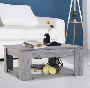 Sensational Details About Wooden Coffee Table Square Grey Furniture Rustic Living Room Large Storage Shelf Squirreltailoven Fun Painted Chair Ideas Images Squirreltailovenorg