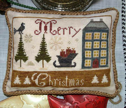 Merry Christmas Abby Rose Designs Primitive Cross Stitch Pattern