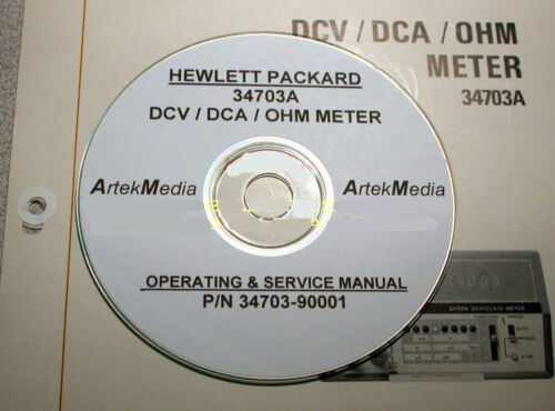 HP 34703A SERVICE /& OPERATING  MANUAL