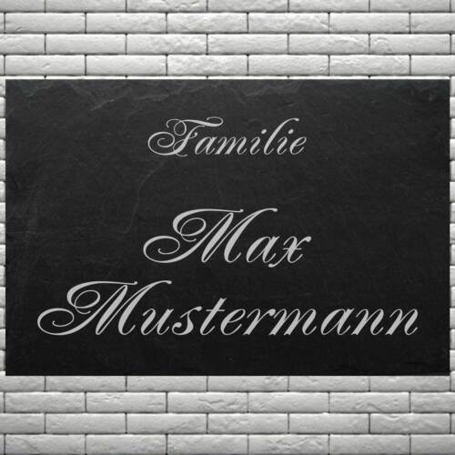 Türschild Wohnungsschild ♥ Familie IHR NAME ♥ LASER GRAVUREN Schiefer 40x25 cm