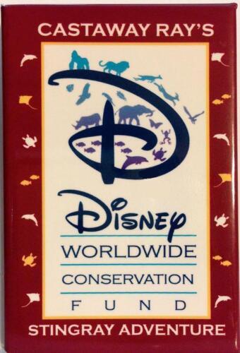 Disney Conservation Button Pin Land Sea Stingray Wildreness Animation Hilton AK