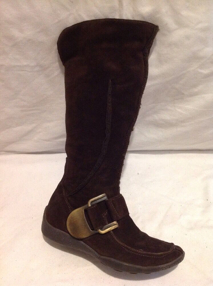 Faith Brown Mid Calf Suede Boots Size 37