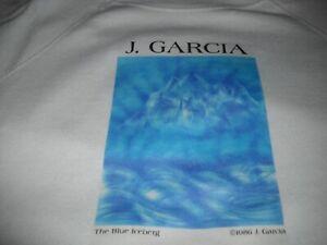 JERRY-GARCIA-GRATEFUL-DEAD-BLUE-ICEBERG-1986-SECURITY-ART-GALLERY-SWEATSHIRT-XL