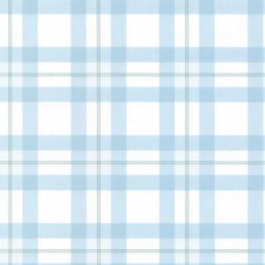 blue white plaid wallpaper kb25576 58559255761 ebay