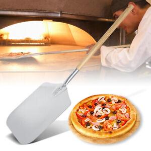 Pizza-Schaufel-Schieber-ALU-85cm-Wender-Heber-Brot-Backen-Ofen-Grill-Holz-Griff