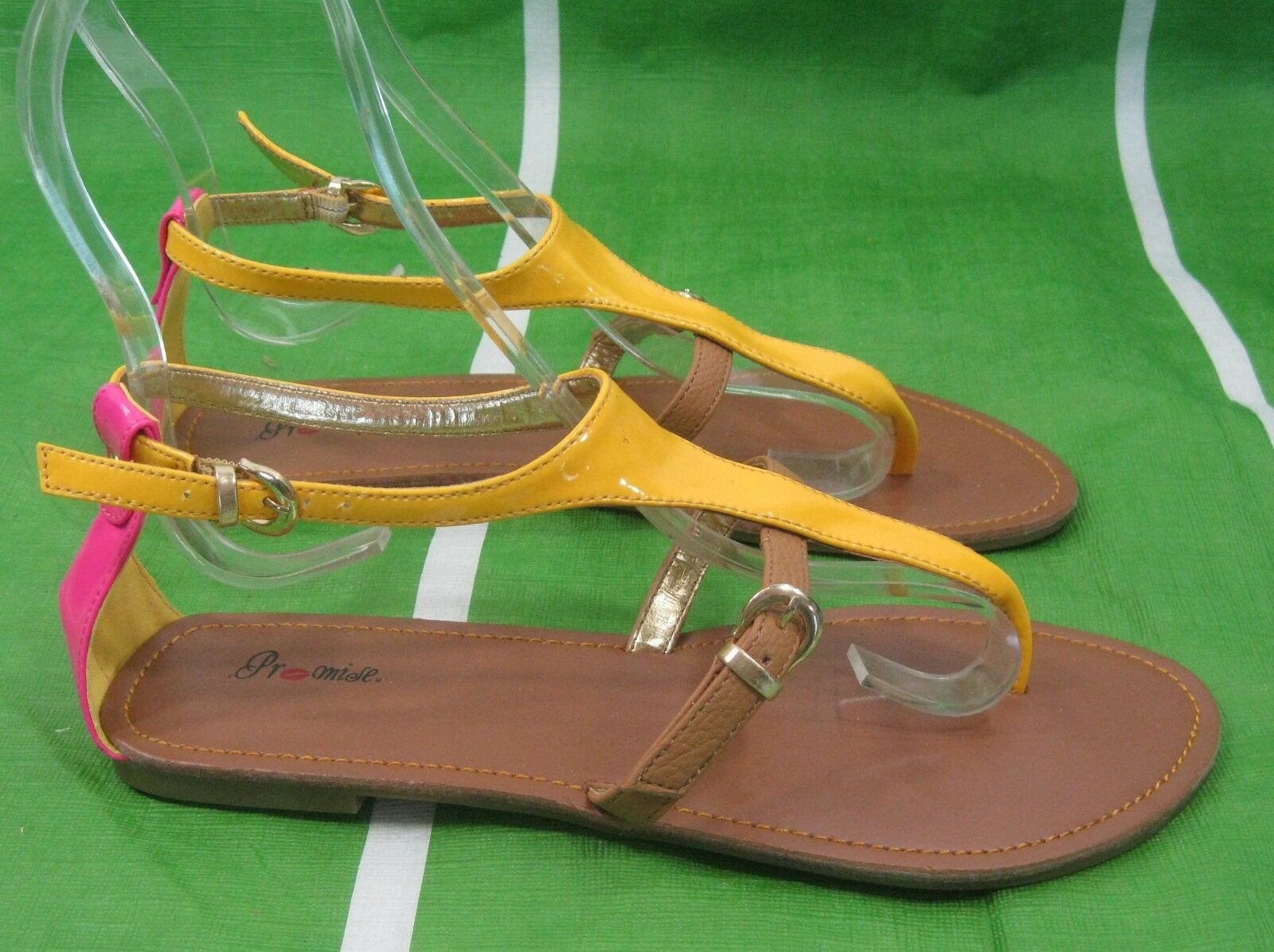 Womens Summer Sexy Yellow/Brown/Pink Womens Shoes Sexy Summer Sandals Size 6 c552c3