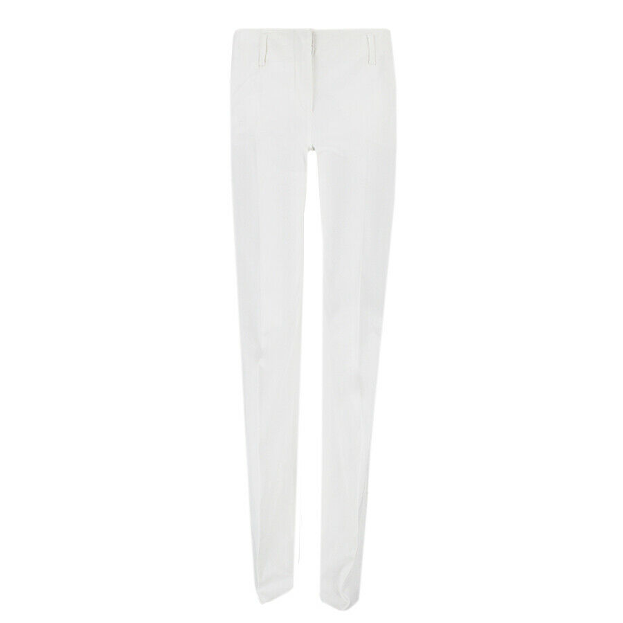 Emilio Pucci Off White Tailored-Fit Boot Cut Trousers Pants IT40 UK8