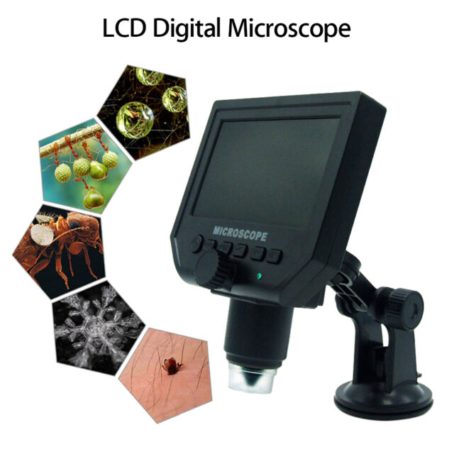 G600 LCD Digital Microscope Magnification Video Camera Magnifier FHD OLED  1080p