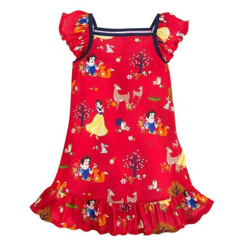 NWT Disney Store Snow White Nightgown Nightshirt 4,5//6,7//8,9//10 Girls Red