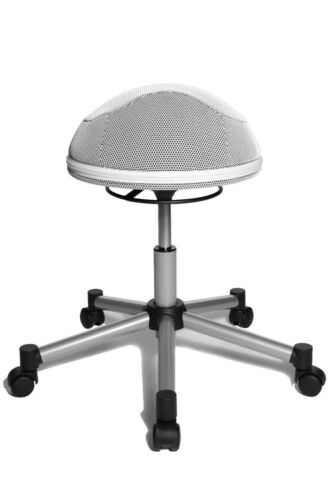 Drehhocker Bürohocker Bürostuhl Drehstuhl Topstar Sitness Half Ball weiß B-Ware
