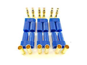 6Stk-EC5-Stecker-Buchse-Set-3-Paar-AMASS-Goldkontakt-5mm-E-flite