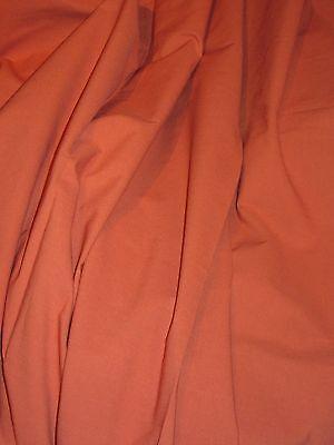 Coupon tissu  coton orange brûlée 2m30  x 145 de large