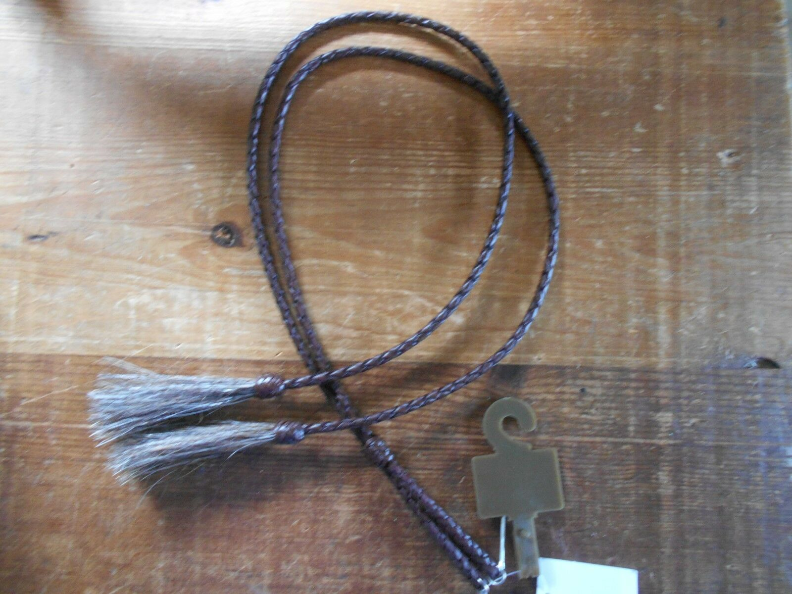 LEATHER WESTERN STAMPEDE STRING BROWN  27 INCHES LONG COWGIRL DECOR BARREL RACER