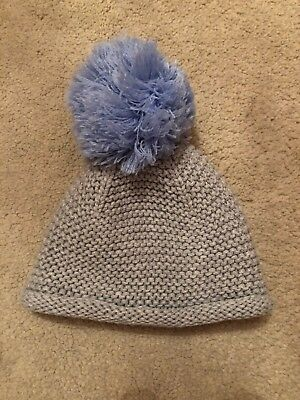 Clothing, Shoes & Accessories Hats Next Baby Blue Grey Pom Pom Hat Size 3-6 Months Terrific Value
