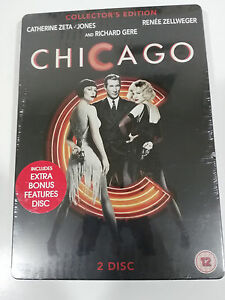 CHICAGO-2-X-DVD-STEELBOOK-ENGLISH-RICHARD-GERE-ZETA-JONES-ZELLWEGER-NEW-AM