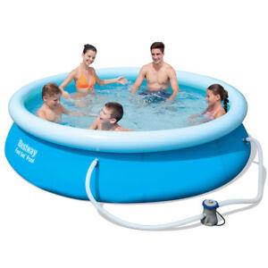 Bestway-Fast-Set-Pool-Set-57270-mit-Filterpumpe-305x76cm-Quick-UP-Schwimmbad-NEU