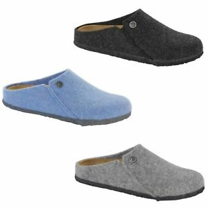 Birkenstock-Zermatt-Rivet-anthracite-Clogs-Mules-Slippers-Sandals-Felt-Wool-New