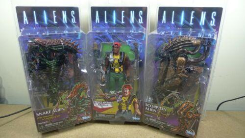 Serpent /& Scorpion Alien Full Set of 3 Figures NECA ALIENS Series 13 KENNER vos gueules