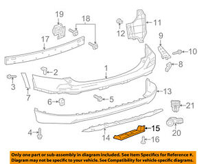 TOYOTA OEM 13-15 RAV4 Rear Bumper Lower Cover Right 587230R010 58723-0R010