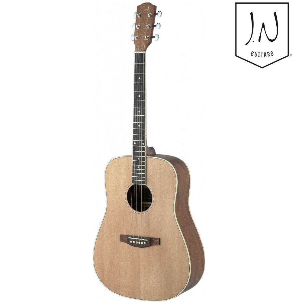 J.N Guitars ASY-D LEFT HAND Asyla Series Dreadnought Acoustic Guitar Natural