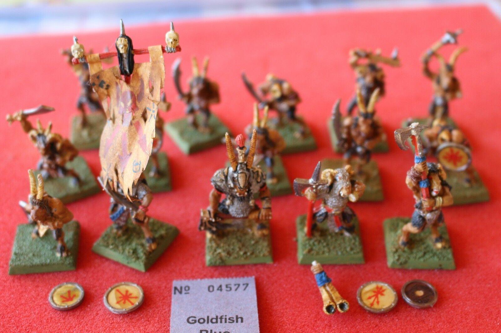 Games Workshop Warhammer Beastmen Beastman Gors Herd Metal Well Painted Metal GW