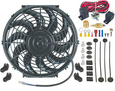 8 Inch, Dual Fan American Volt 12V Electric Radiator Cooling Fan Reversible High Performance Thermo Cooler Best CFM