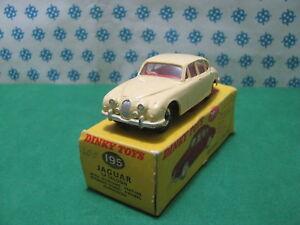 Vintage-Jaguar-3-4-litre-Dinky-Toys-195-Nuova-Mint-in-Box