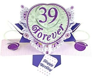 Image Is Loading 3D Pop Up Card Happy 40th Birthday Girl