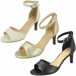5d8257dcf145 Image is loading Clarks-Laureti-Grace-Leather-Heeled-Sandals