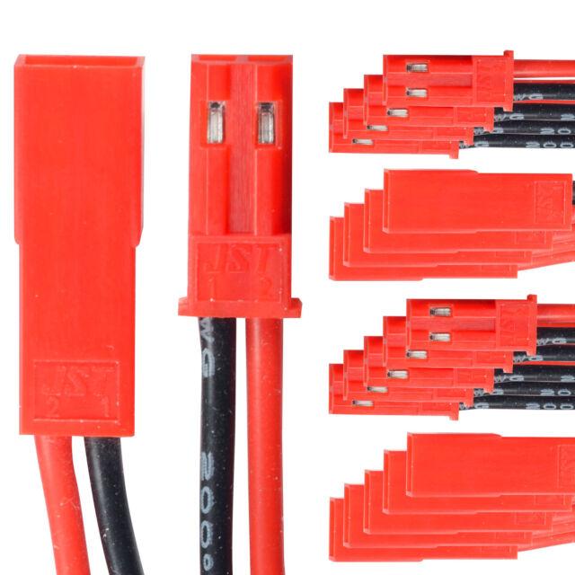 Buchse 2-polig Universal  Anschlusskabel Für RC BEC Lipo Akku 1 Paar Stecker u