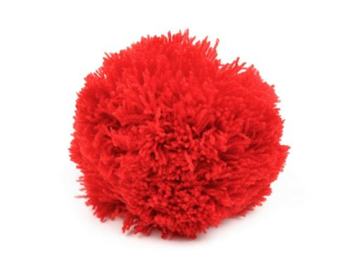 1 Stück 10cm Bommel // Wollbommel // Pompon 1,69€//1Stk rot