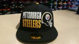 New Era NFL Pittsburgh Steelers Stack the Box Black 59Fifty Fitted ... 5f4374c7f0b
