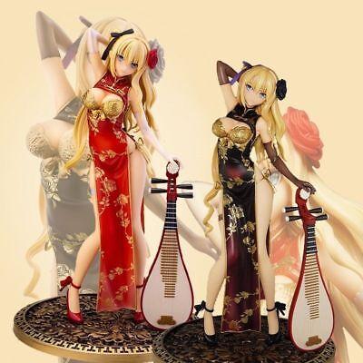 Anime T2 Art Girls Cheongsam Pan Jinlian PVC Figure Soft  Red No Box 26cm