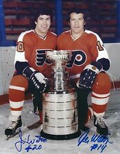 Signed  8x10 JOE & JIMMY WATSON Philadelphia Flyers Photo - COA