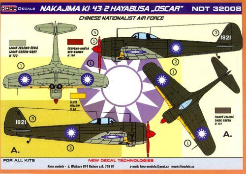 "KORA Decals 1//32 NAKAJIMA Ki-43-2 HAYABUSA /""OSCAR/"" Chinese Nationalist Air Force"
