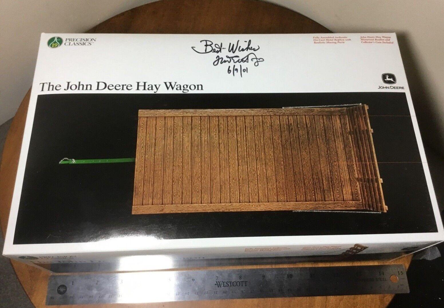 19th Precision Classics John Deere Hay Wagon 1 16 die-cast Signed Frojo Ertl Jr.