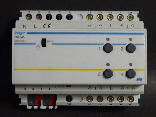 1 von 1 - Hager EIB KNX Jalousieaktor 4fach 230V mit Handbedienung TK040