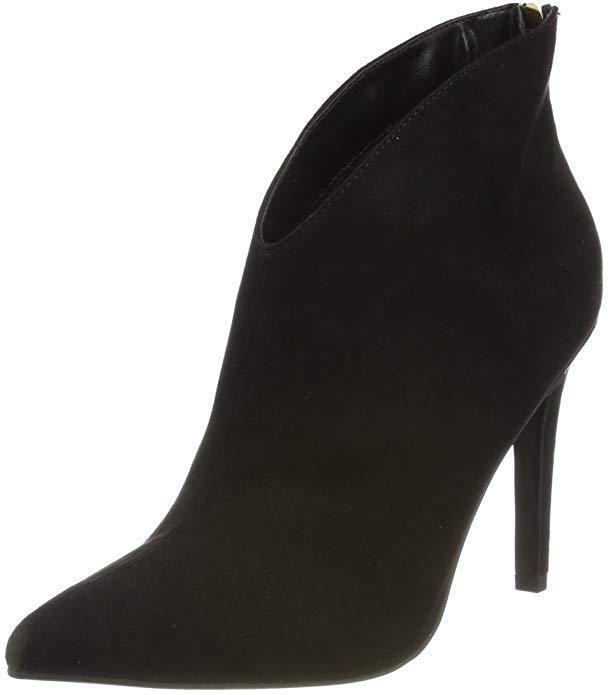 Miss KG Jazz nero in scamosciata finta pelle scamosciata in alla caviglia tacco alto misura 8 41 BNWB molto elegante 0ffd09