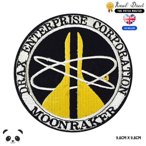 Moon-Raker-Movie-Embroidered-Iron-On-Sew-On-Patch-Badge-For-Clothes-etc