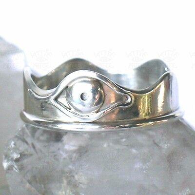 KATTIE-arte-DESIGN RING  Größe 60  MAGISCHES AUGE ~*~ 925 Silber Handarbeit