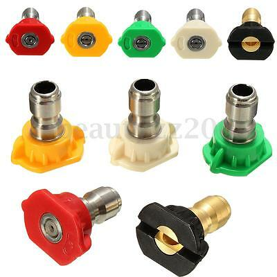 5pcs High Pressure Washer Rotating Turbo Spray Nozzles Tip Quick Connect GPM 3.0