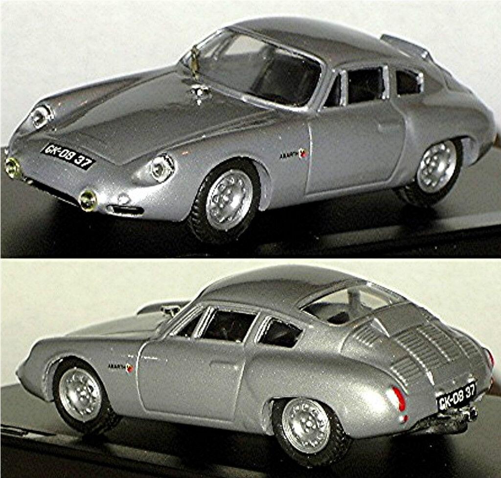Porsche Abarth 695 Gs 1960 Argent Argent Métallique 1 43 Exem Résine