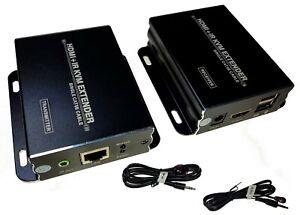 Video-Extender-HDMI-USB-IR-Signal-60m-UTP-Netzwerkkabel-KVM-1080p-HDCP-EDID-10-2