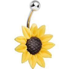 Stunning Sunflower Belly Ring