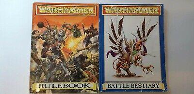 Sportivo Warhammer Regolamento E Libro Bestiario Di Battaglia, 1992, Games Workshop. Gioco Vintage-