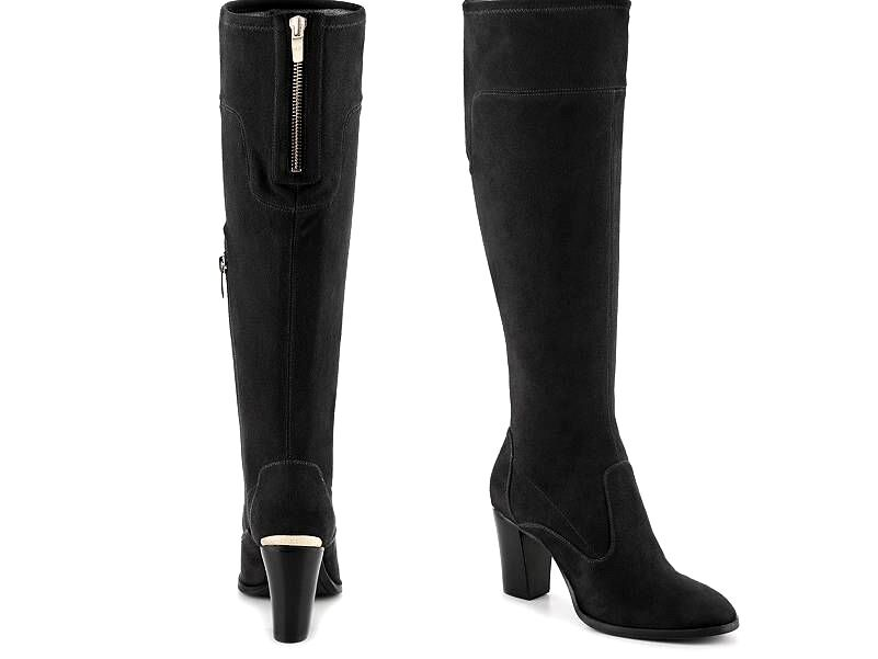 New  MARC FISHER Womens Size 6 Faux-Suede Knee High Fashion Boots 3  Heels