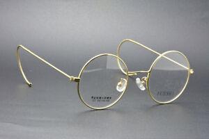 dc8334ca8d2 Retro Round gold wire rim Eyeglass frames Eyewear Vintage glasses ...